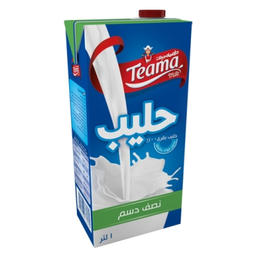 TEAMA UHT MILK HALF CREAM
